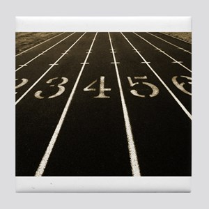 Race Track Numbers In Sepia Tone Tile Coaster