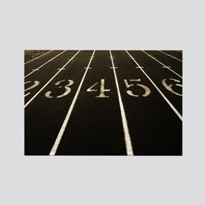 Race Track Numbers In Sepia Tone Rectangle Magnet