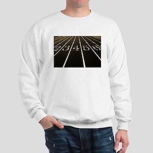 Race Track Numbers In Sepia Tone Sweatshirt