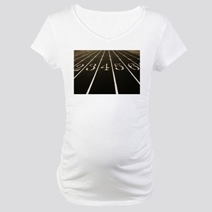 Race Track Numbers In Sepia Tone Maternity T-Shirt