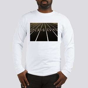 Race Track Numbers In Sepia Tone Long Sleeve T-Shi