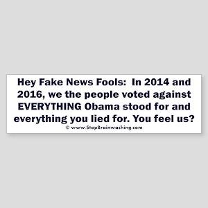 Fake News Fools Sticker (Bumper)