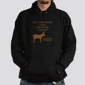 Like My Mule Hoodie (dark)