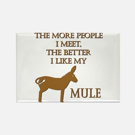Like My Mule Rectangle Magnet