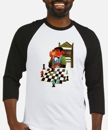 Monkey Playing Chess Baseball Jersey