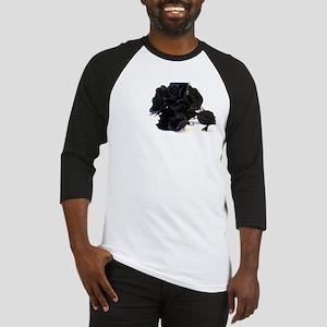 Black Roses on White Background Baseball Jersey