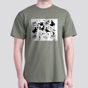 Saxon Color Pigeons Dark T-Shirt