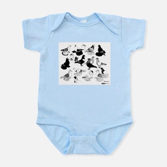 Saxon Color Pigeons Infant Bodysuit
