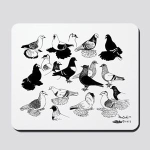 Saxon Color Pigeons Mousepad