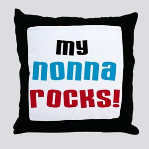 My Nonna Rocks Throw Pillow