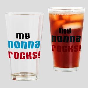 My Nonna Rocks Drinking Glass