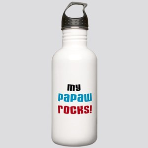 My Papaw Rocks Water Bottle