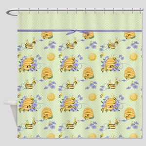 Honey Bee Dance Shower Curtain