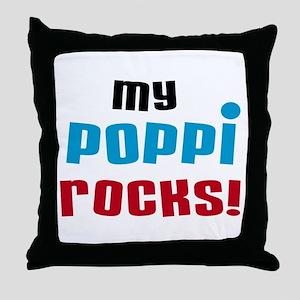 My Poppi Rocks Throw Pillow