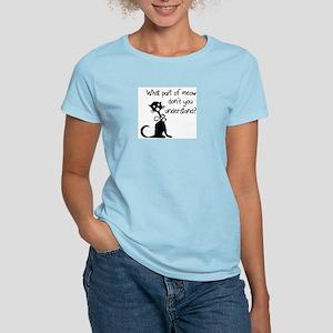cat saying w/ attitude Women's Pink T-Shirt