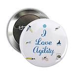 I Love Agility Button