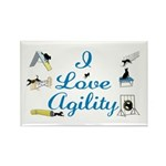 I Love Agility Rectangle Magnet