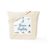I Love Agility Tote Bag