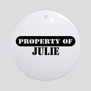 Property of Julie Ornament (Round)