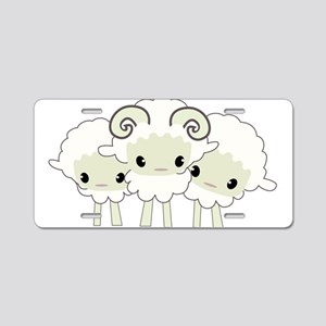 Trio of Sheep Aluminum License Plate