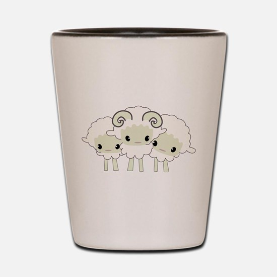Trio of Sheep Shot Glass