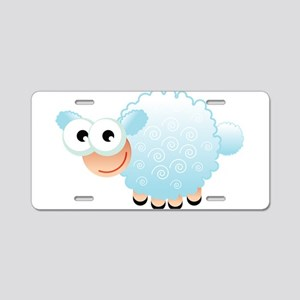 Blue Sheep Aluminum License Plate