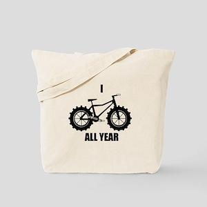 I Fatbike All year Tote Bag