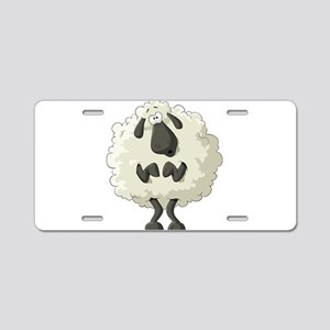 Funny Cartoon Sheep Aluminum License Plate