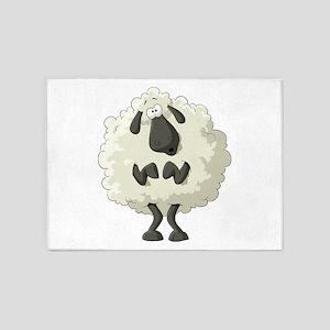 Funny Cartoon Sheep 5'x7'Area Rug