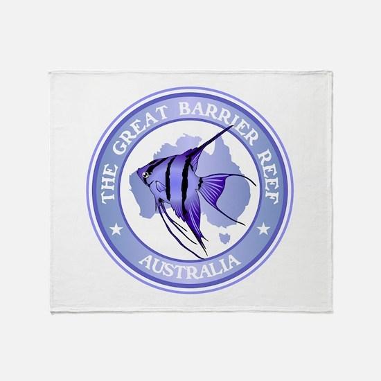Australia -The Great Barrier Reef Throw Blanket