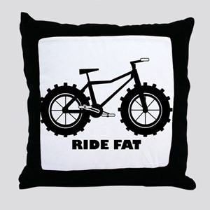 Ride Fat Throw Pillow