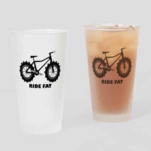 Ride Fat Drinking Glass