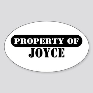 Property of Joyce Oval Sticker