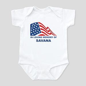 Loving Memory of Savana Infant Bodysuit