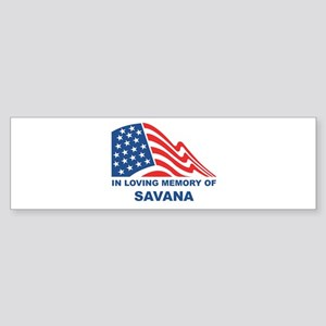 Loving Memory of Savana Bumper Sticker