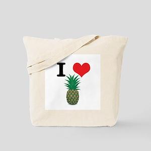 I Heart (Love) Pineapple Tote Bag