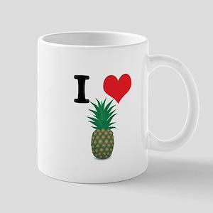 I Heart (Love) Pineapple Mug