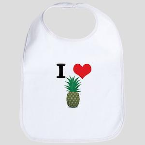 I Heart (Love) Pineapple Bib