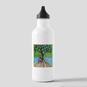 Yorkie spritual tree Water Bottle