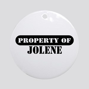 Property of Jolene Ornament (Round)