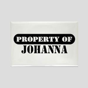 Property of Johanna Rectangle Magnet