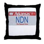 Arkansas NDN Throw Pillow