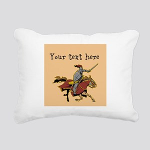 Customizable Knight on Horse Rectangular Canvas Pi