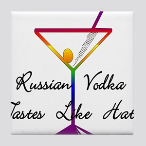 Boycott Russian Vodka Tile Coaster
