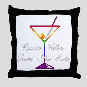 Boycott Russian Vodka Throw Pillow