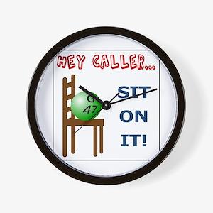 Sit on it caller! Wall Clock