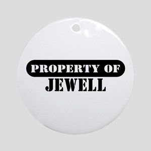 Property of Jewell Ornament (Round)