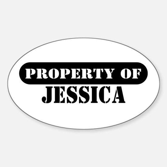 Property of Jessica Oval Decal
