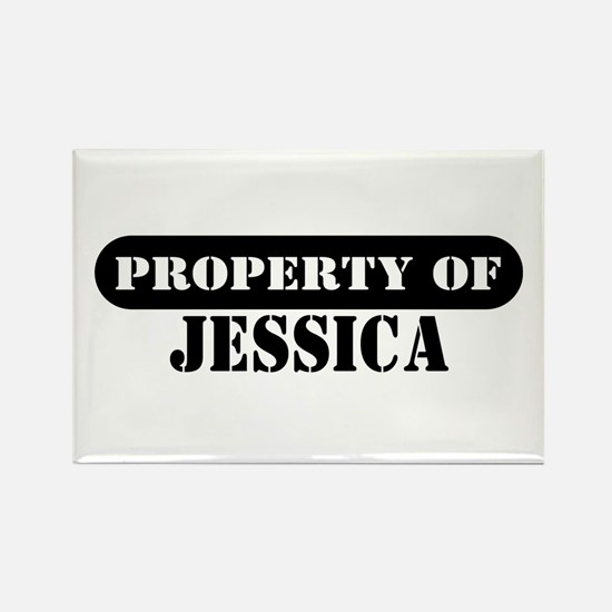 Property of Jessica Rectangle Magnet