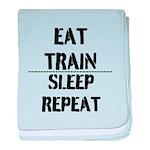EAT TRAIN SLEEP REPEAT baby blanket